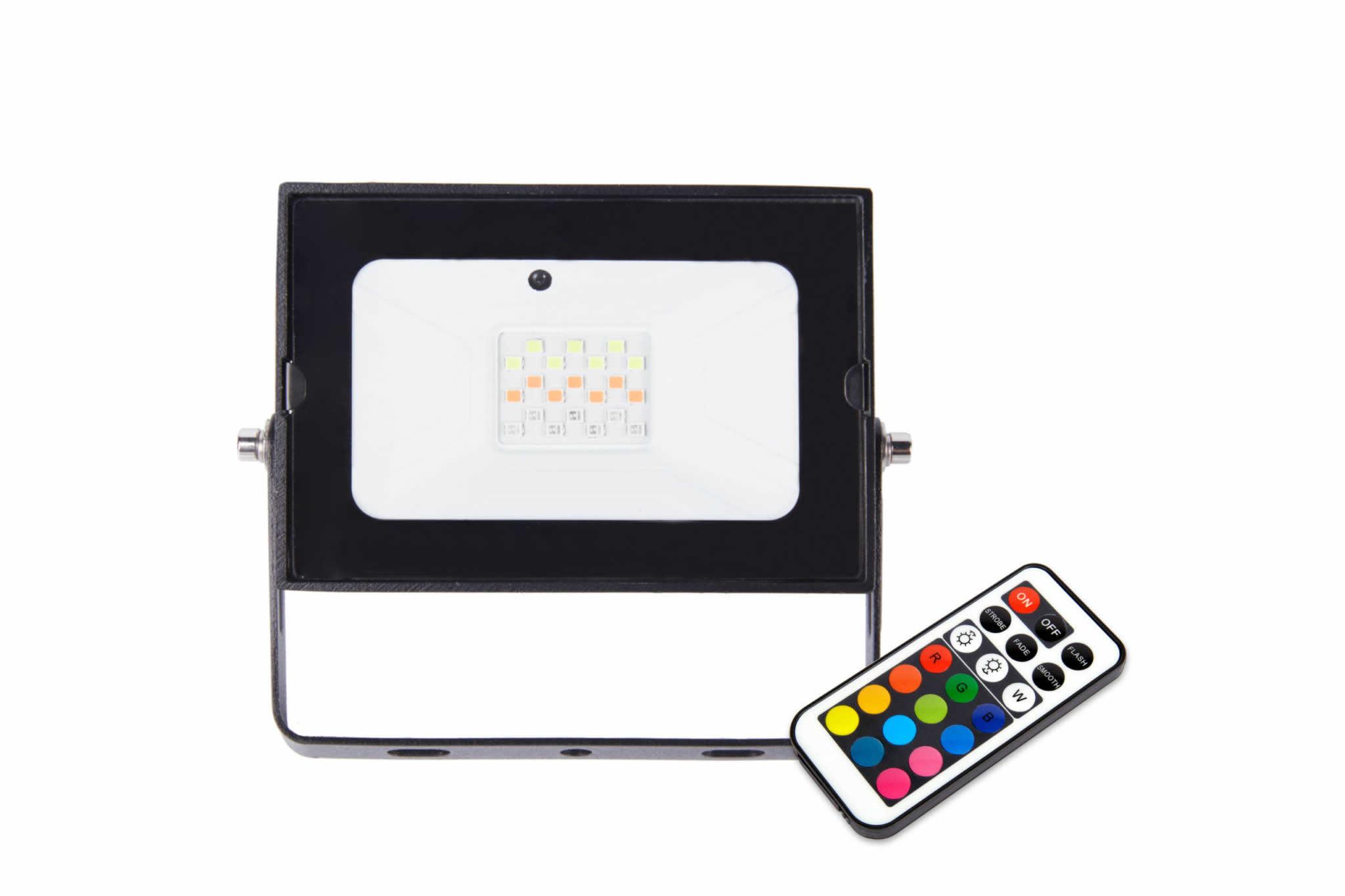 20W Combat LED RGB Remote Floodlight