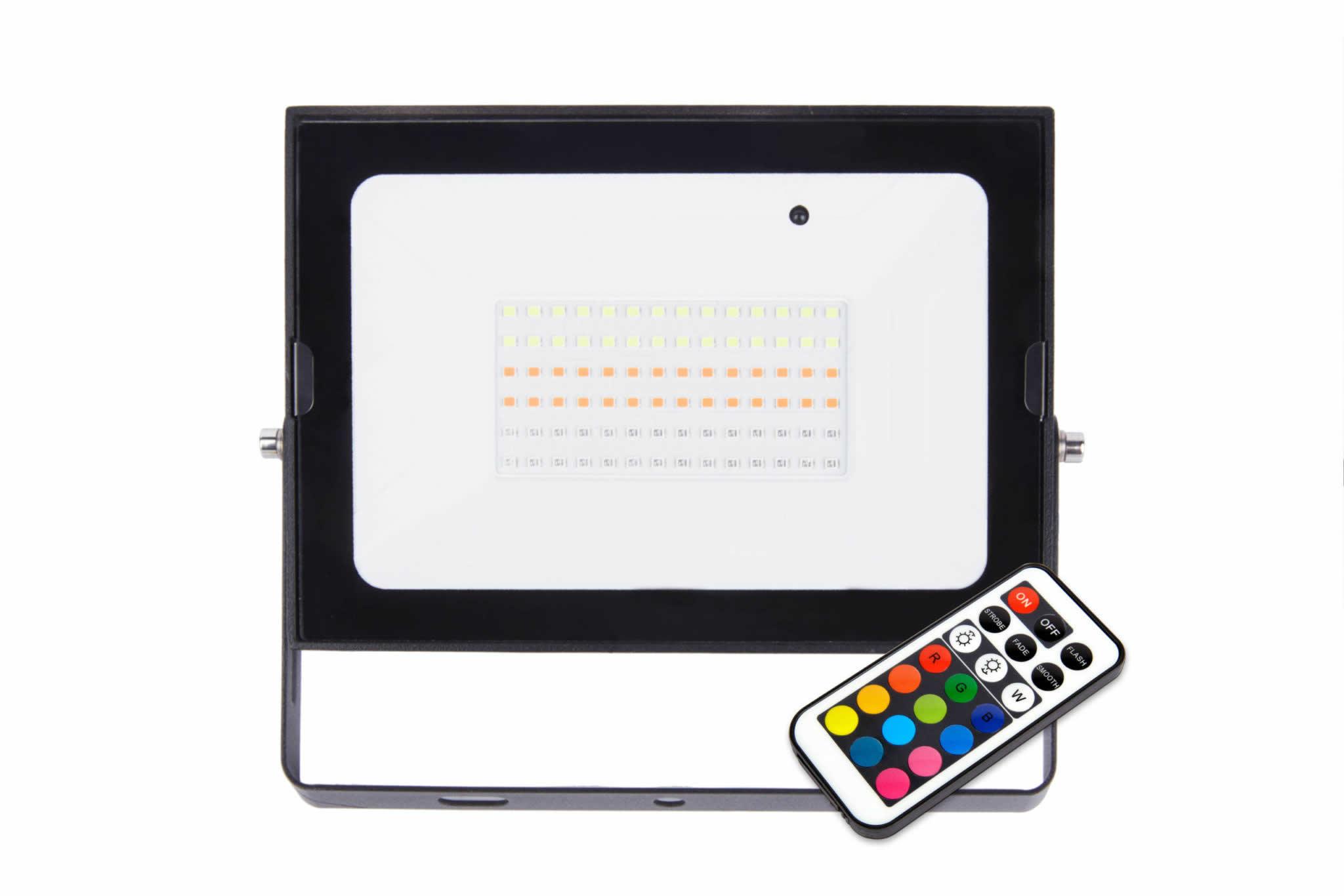 50W Combat LED RGB Remote Floodlight