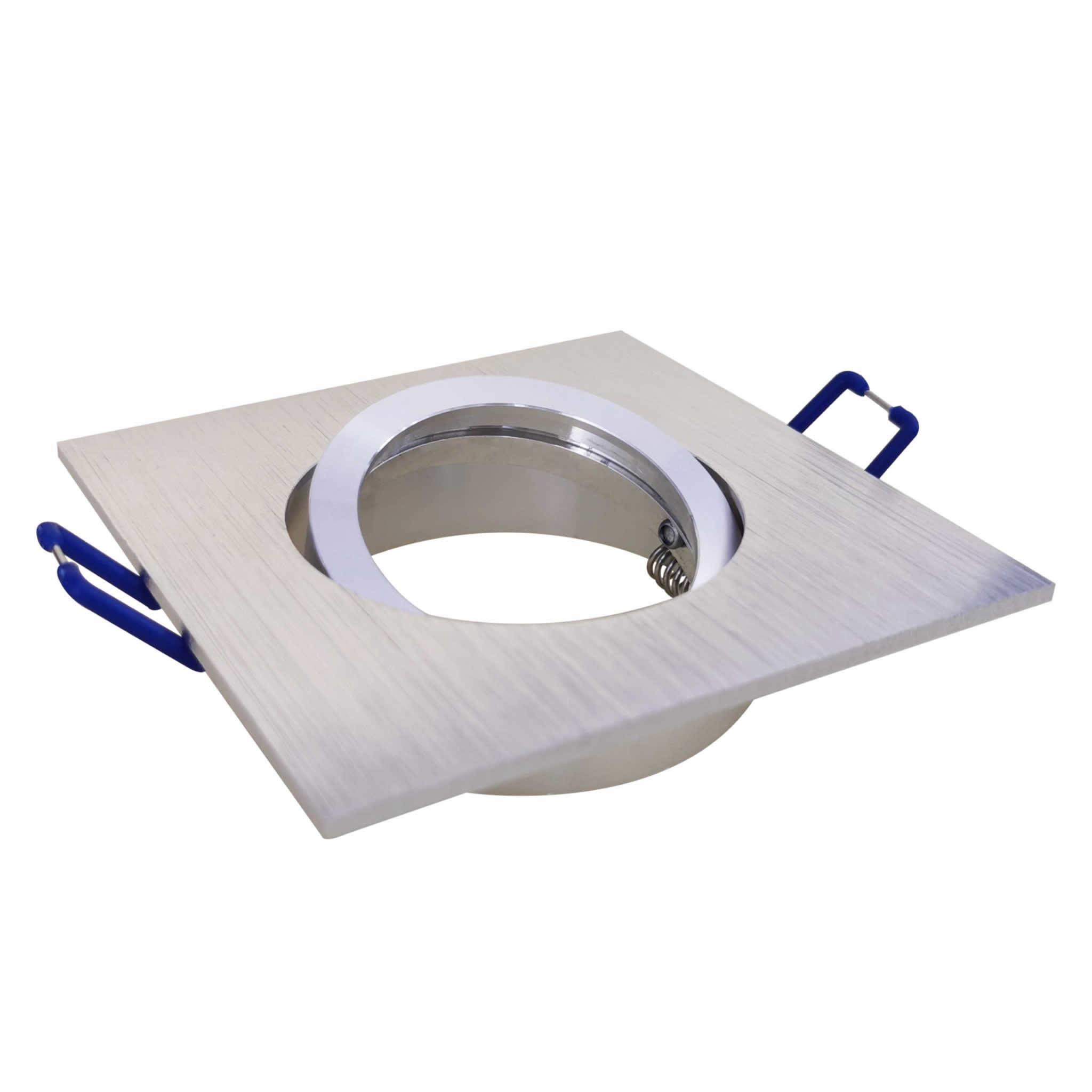 Square Tilt Fixture Silver