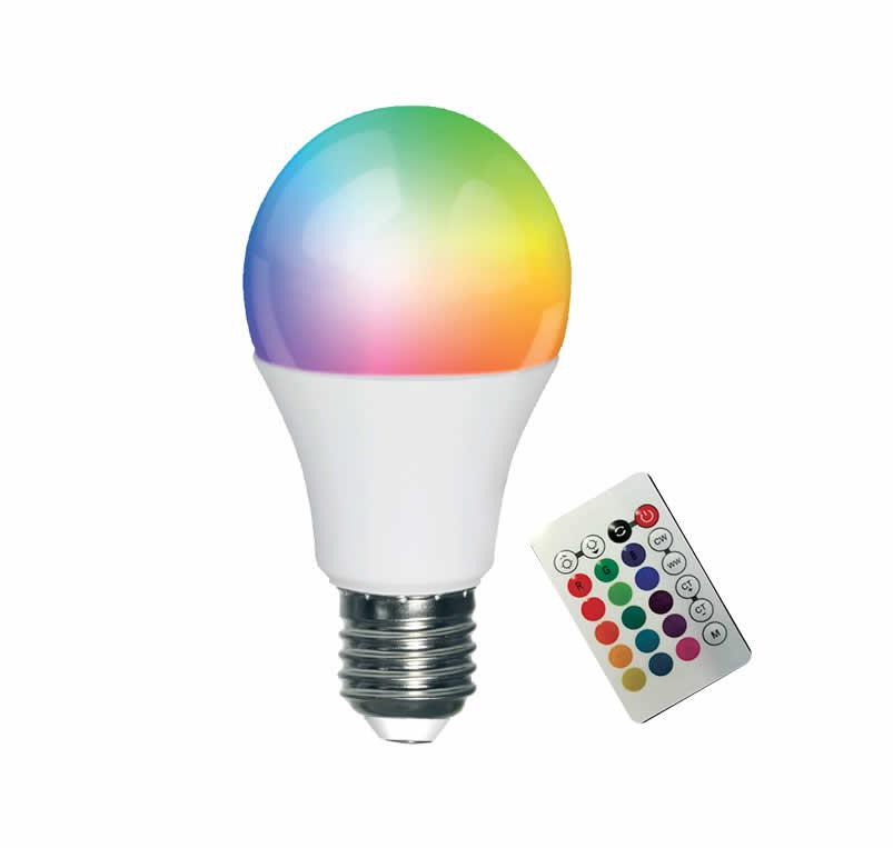 A60 10W LED Smart Wifi E27 Bulb + Remote